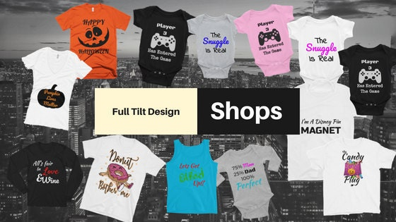 Full Tilt Design Shop Etsy Amazon and Website Sales