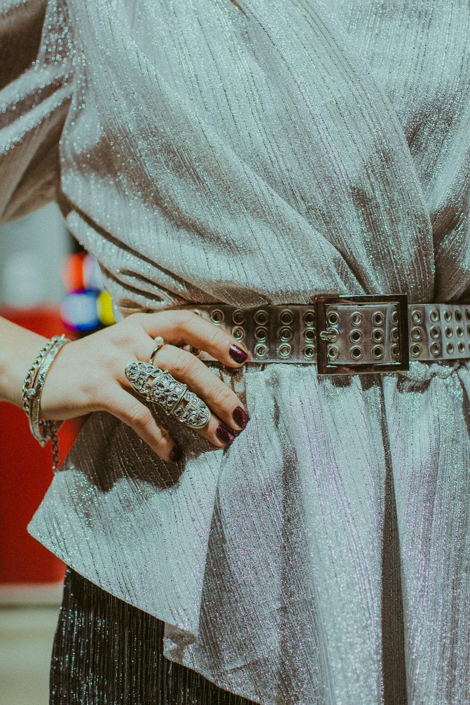silver vintage belt