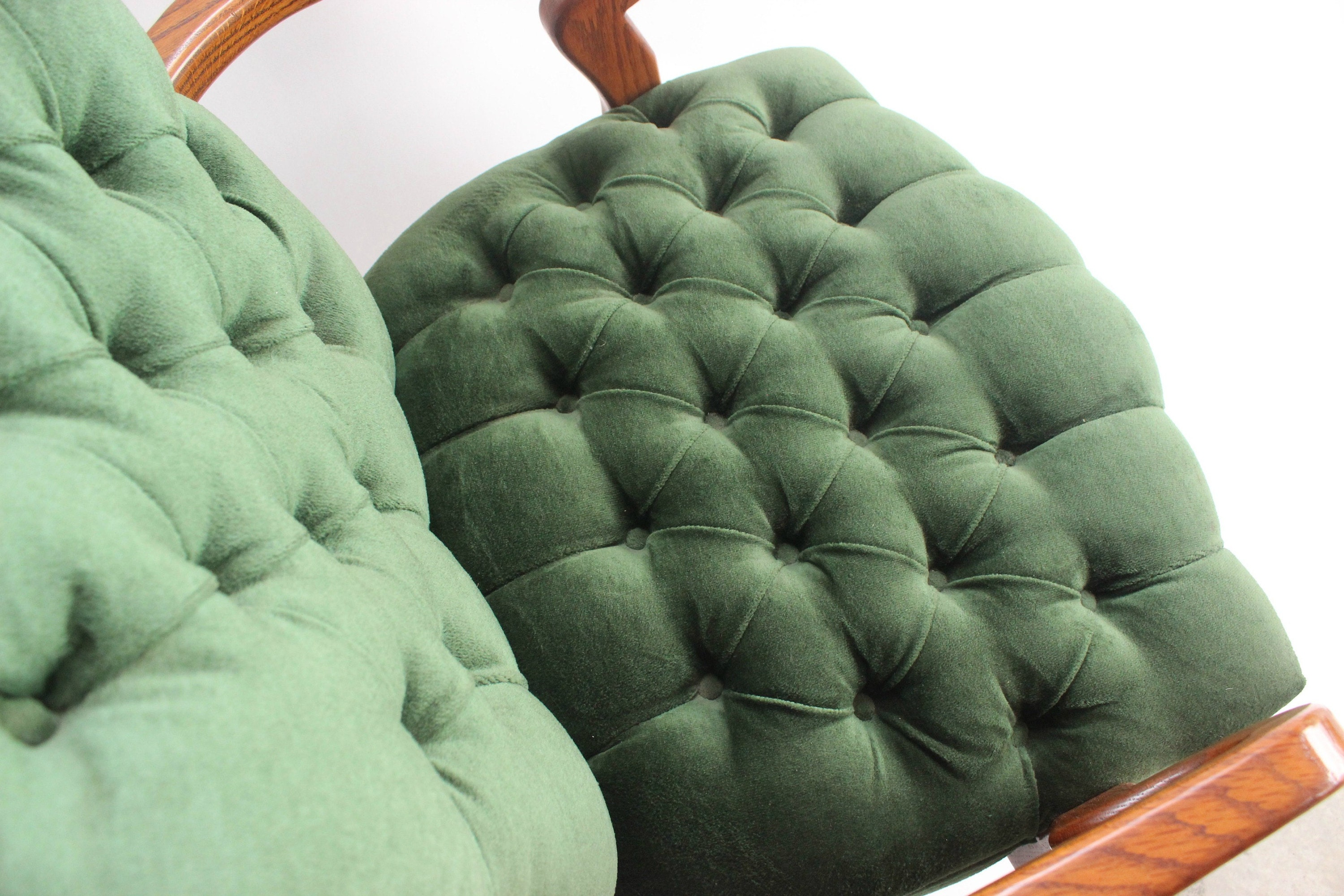 tufted green club chair office chair mendez manor