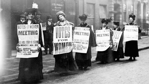 Suffragette Protestors, 1908
