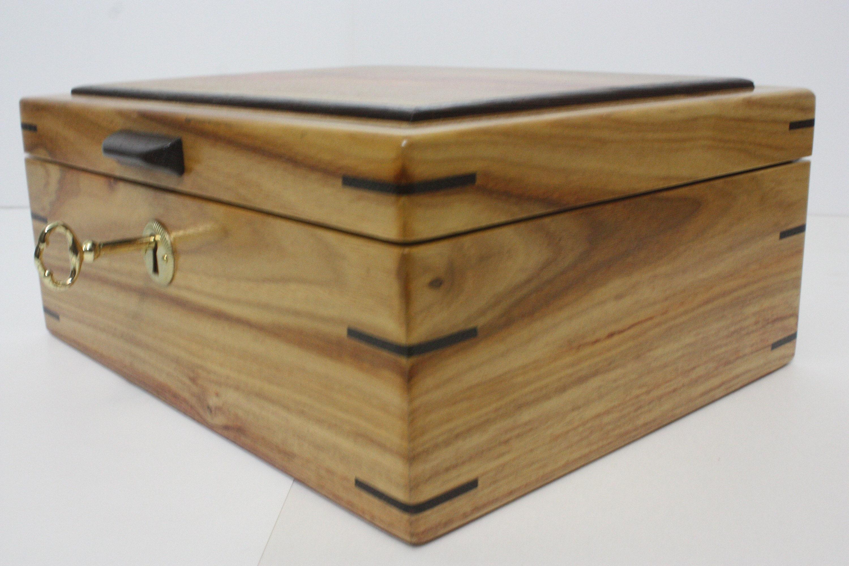 Large Locking Canarywood Box