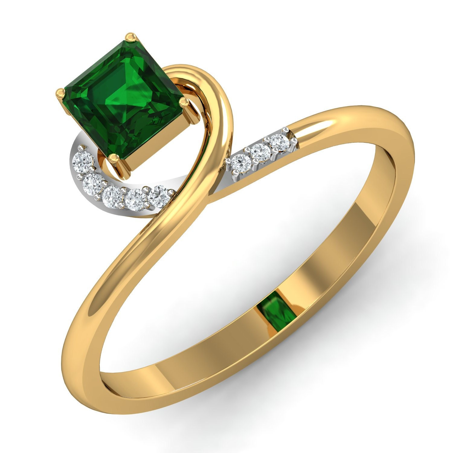 Diamond Emerald Ring by Gem Select Crafts