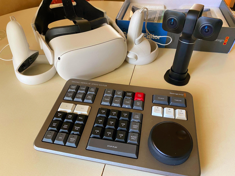 Oculus Quest 2, Vuze XR, DaVinci Resolve Studio