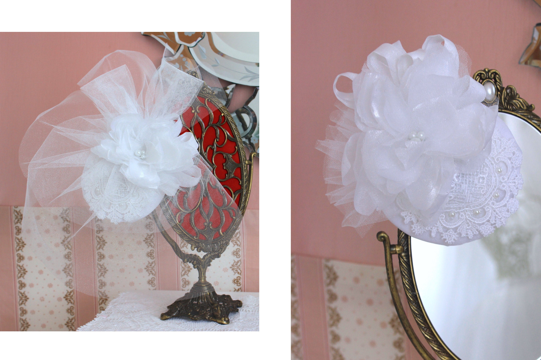 Versatile mini hat for brides with removable veil, by Elizabete Munzlinger