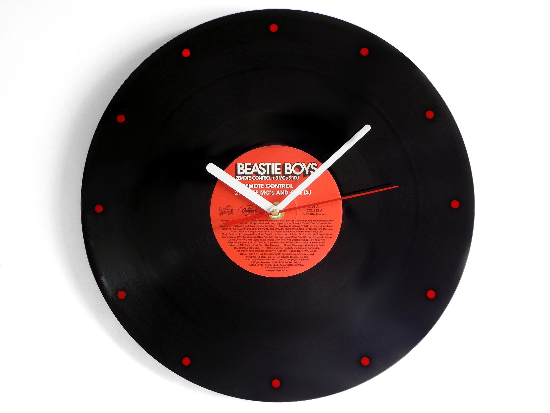 Beastie Boys Remote Control Vinyl Record Wall Clock