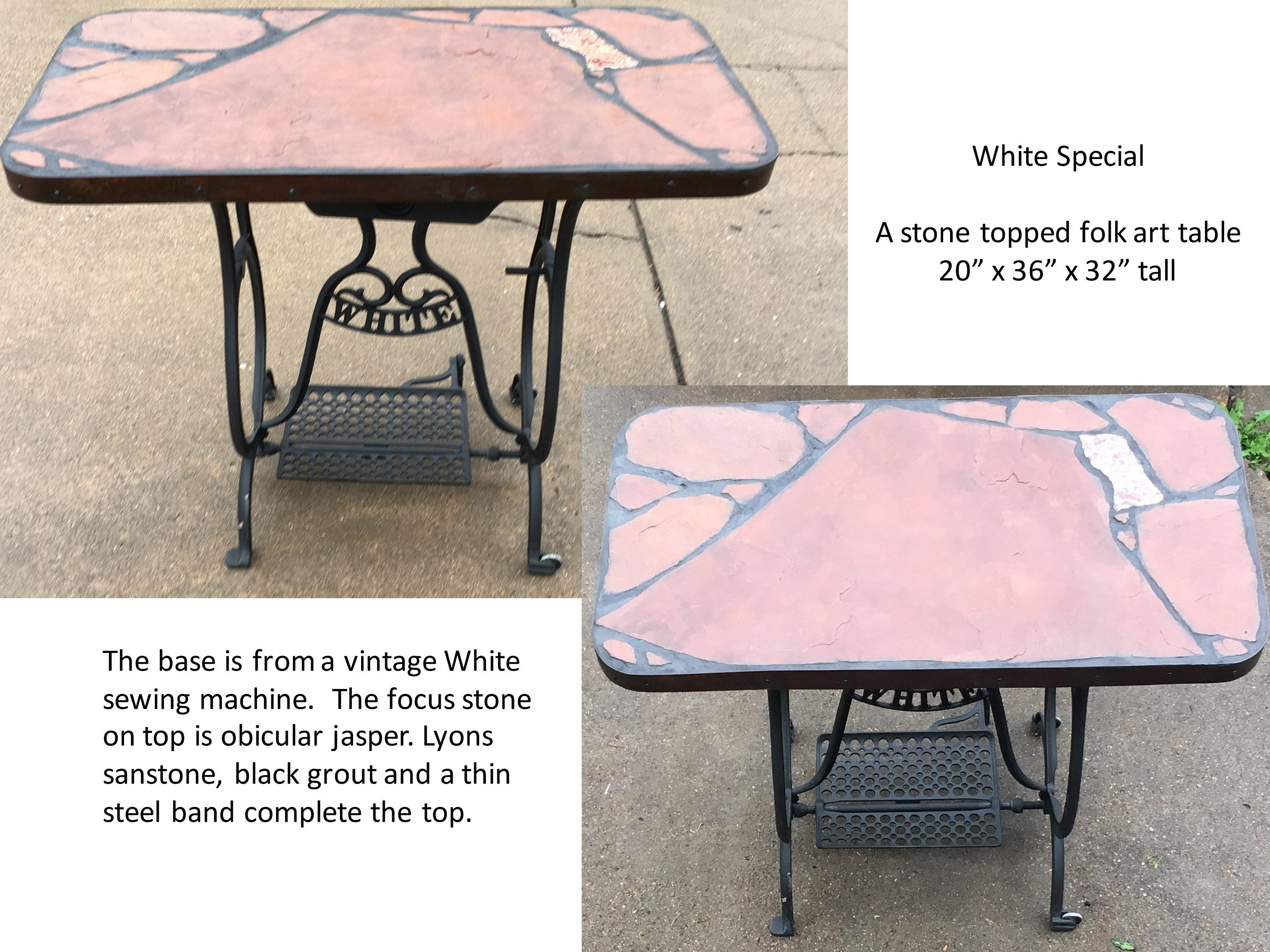 White sewing machine base
