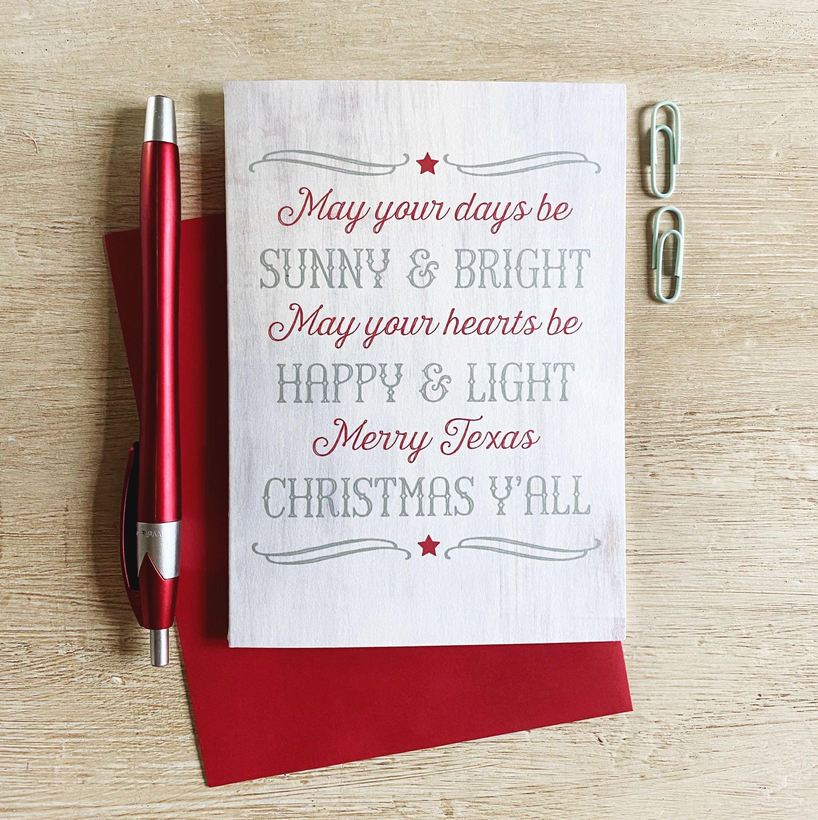 Merry Texas Christmas Greeting Card