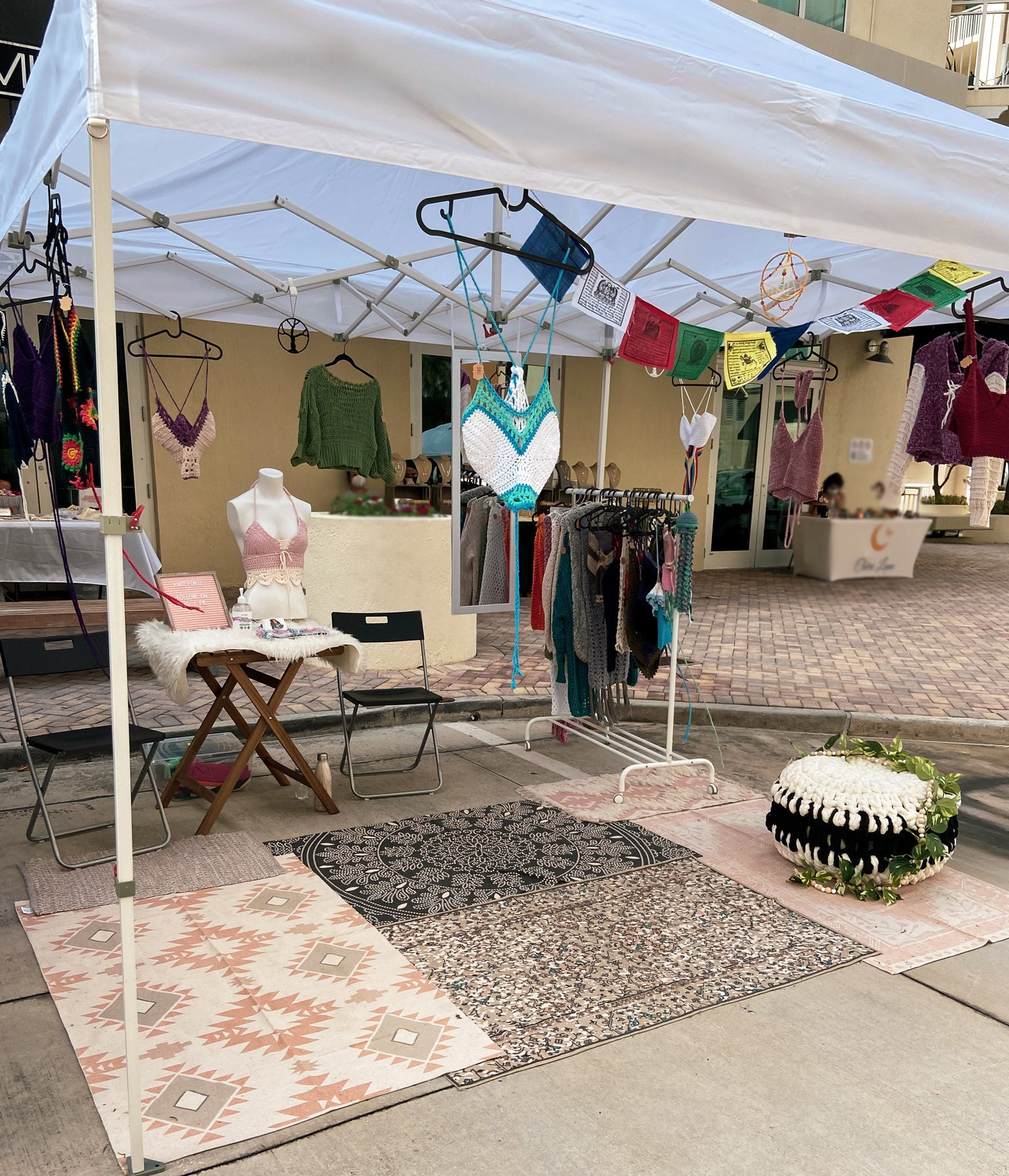 Knot For U Crochet Craft Vendor Market Set Up