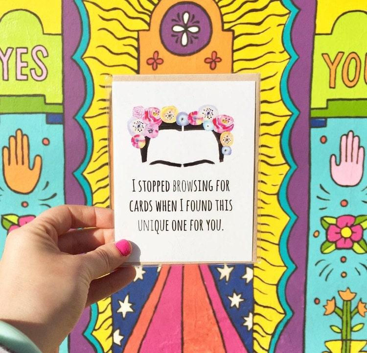 Frida Kahlo, Frida Kahlo Card, Frida Card, San Diego Blogger, San Diego Murals, North Park Murals, ACouplePuns