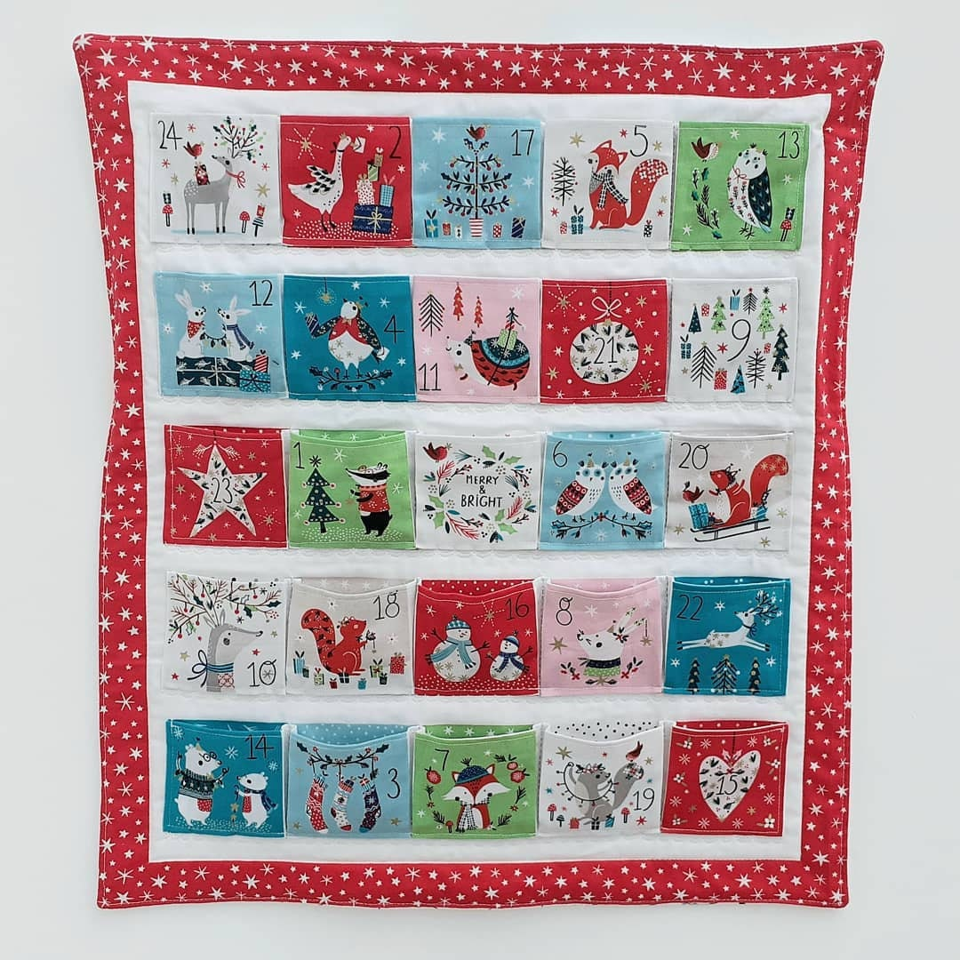Dashwood 2020 quilted advent calendar