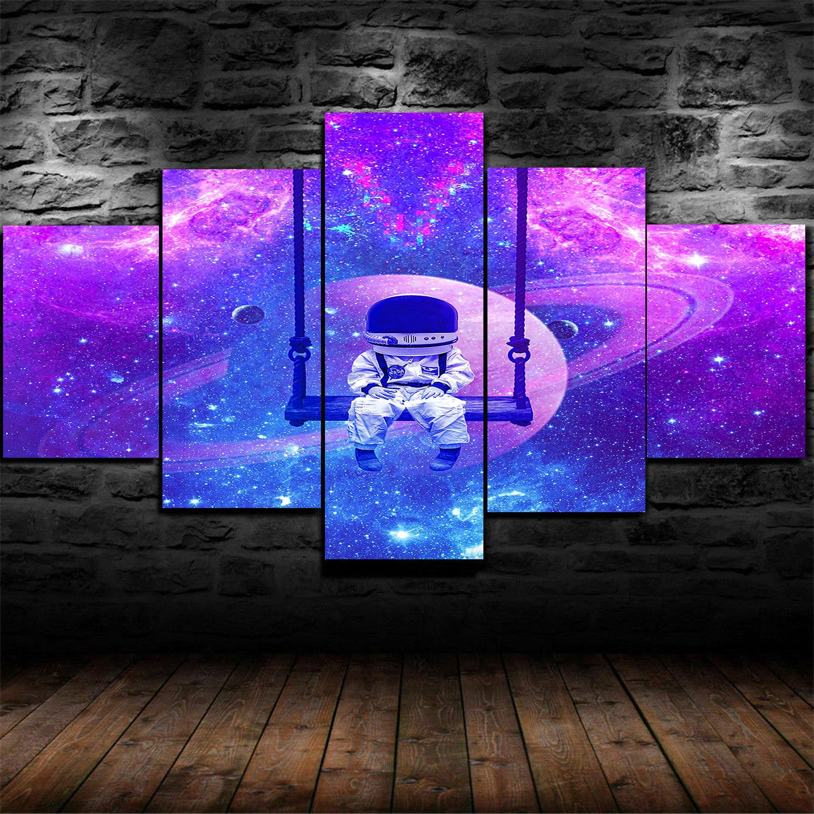 Astronaut and Universe Multipanel wall art