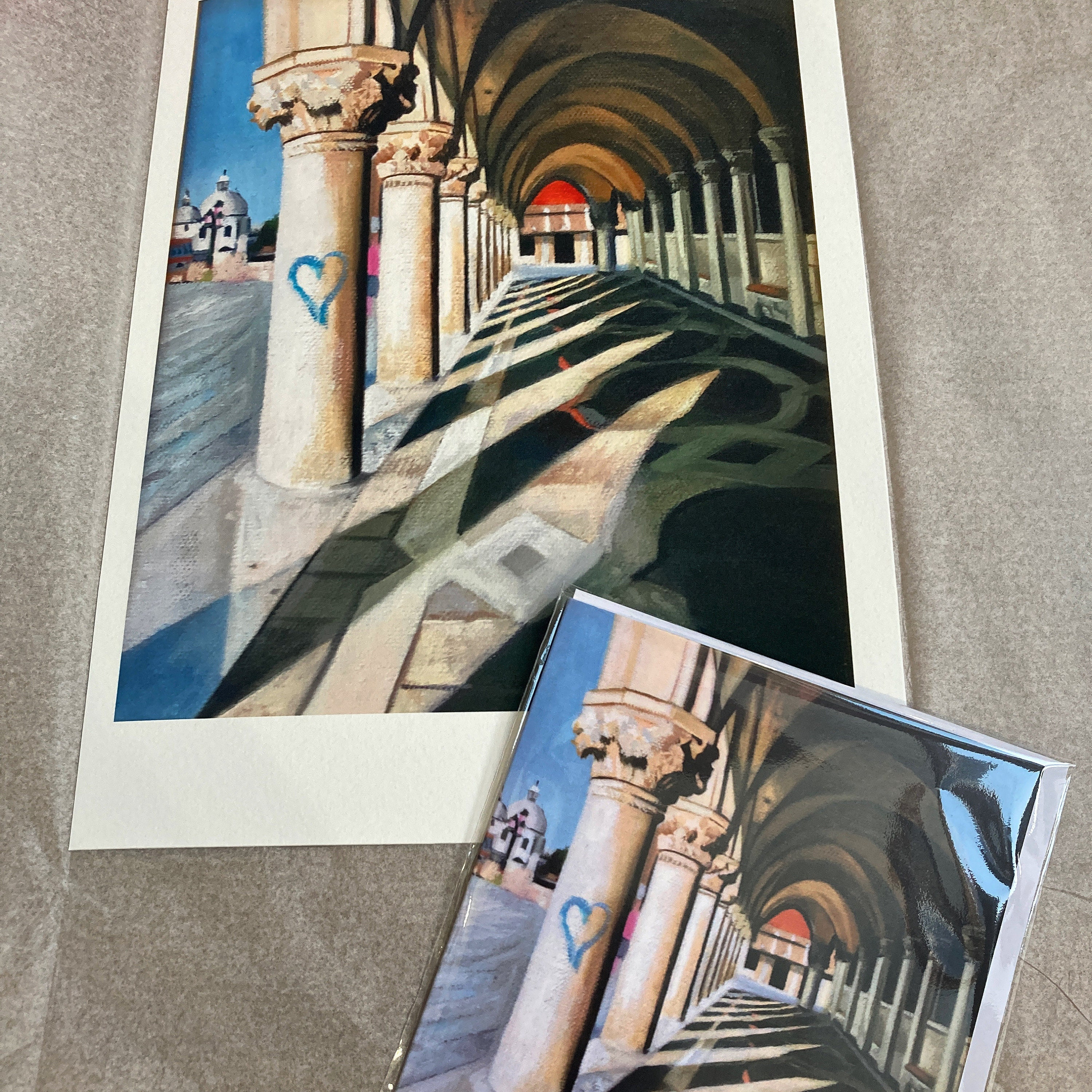 Signed giclee print and card