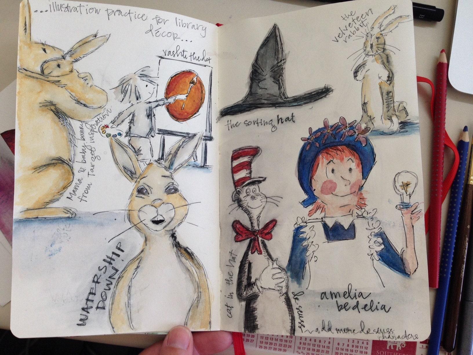 sketchbook classic childrens literature illustrations