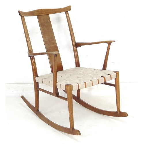 Retro Danish Rocking Chair by the designer Hans Wegner