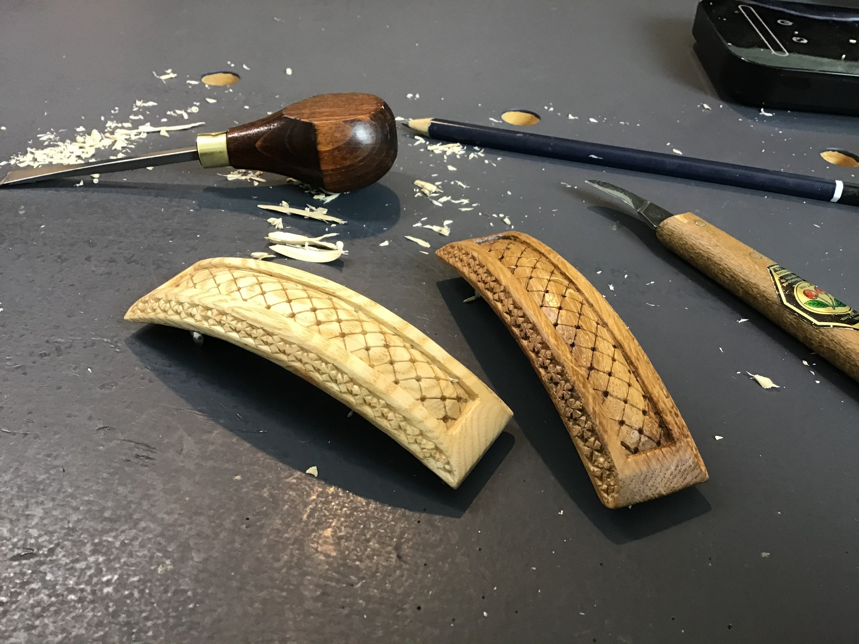 Hand carved Hair Barrettes - Gorlech UK