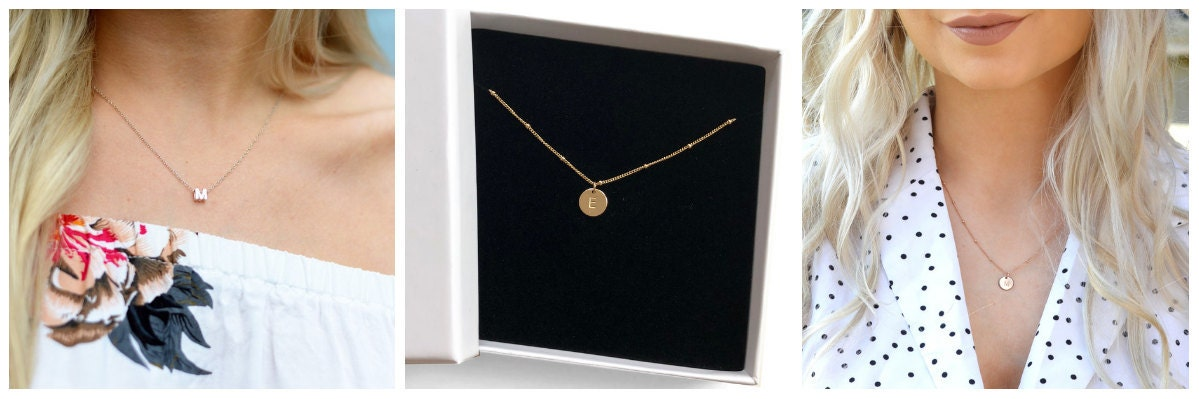 Our personalised necklaces make a unique bridesmaid gift
