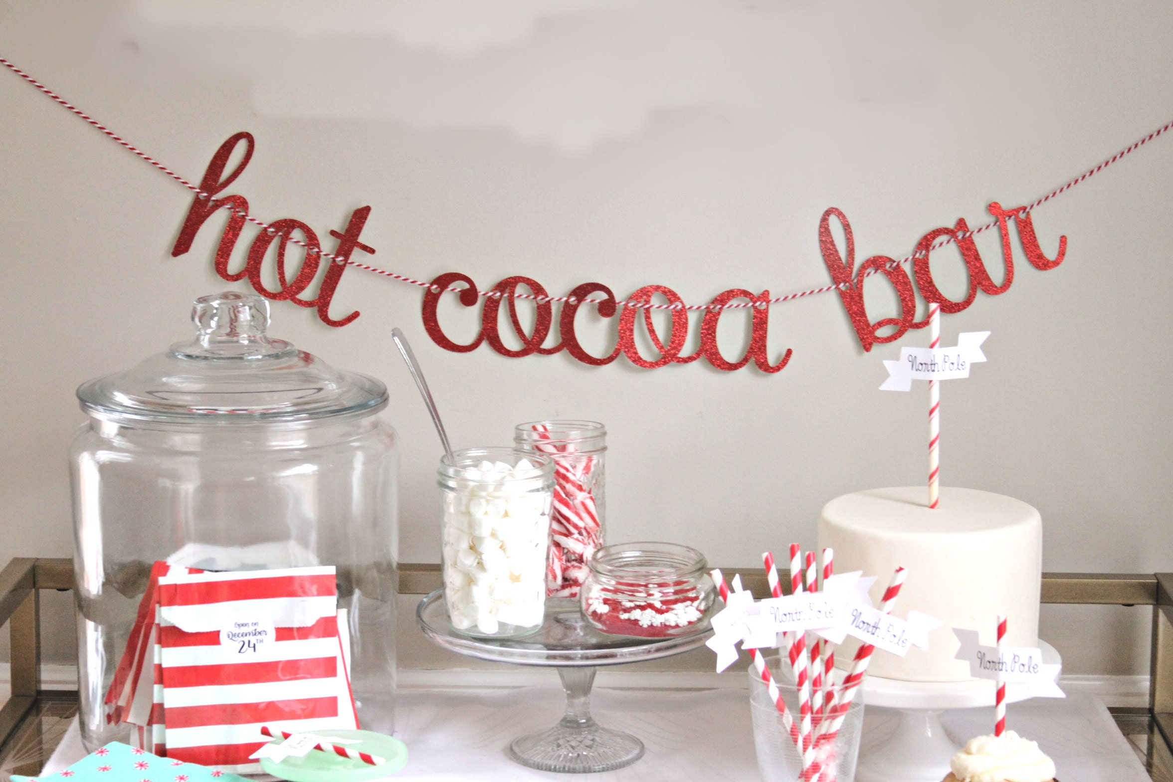 Hot Chocolate Bar Banner by Enfete