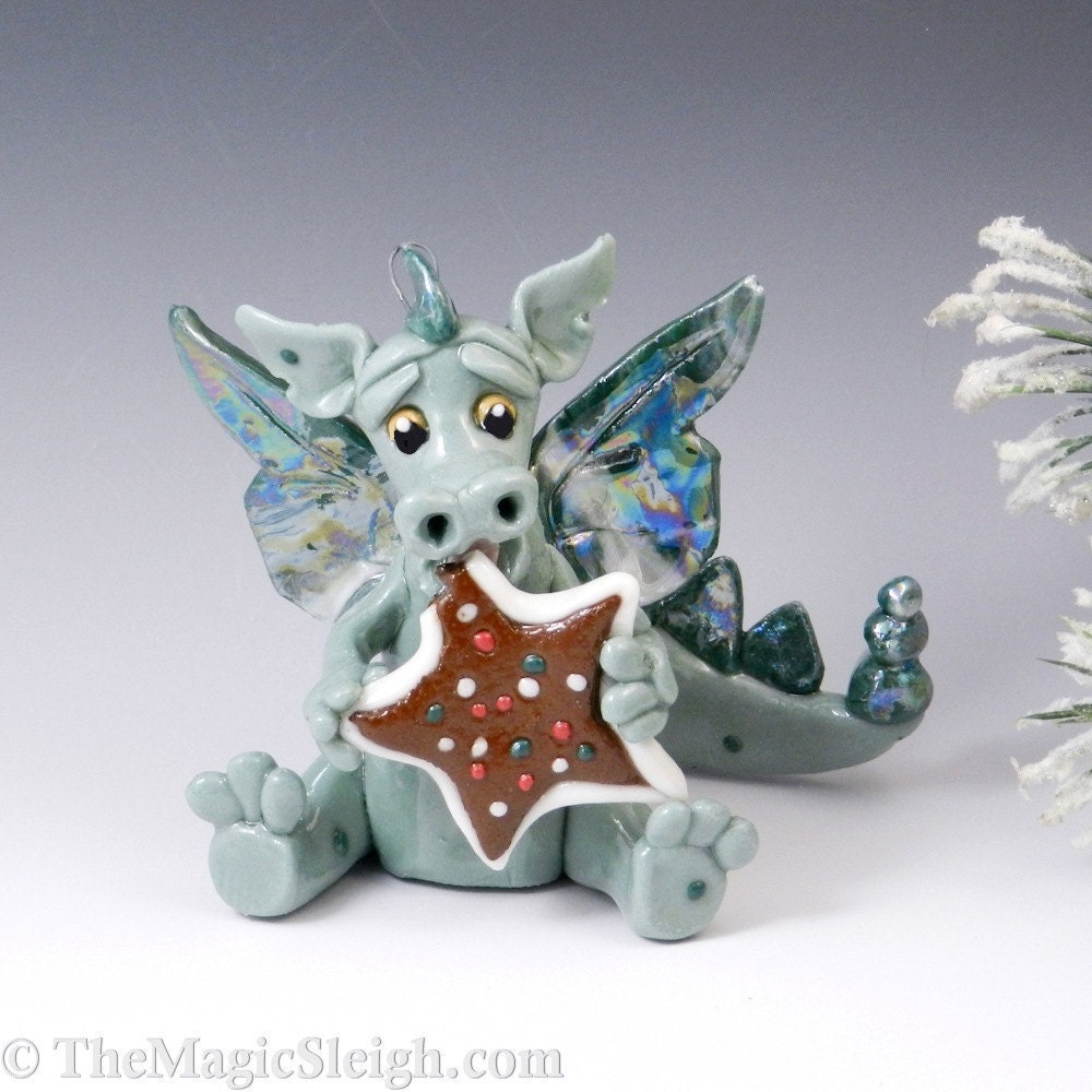 Porcelain Dragon Christmas Ornament