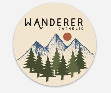 Round 3x3 Wanderer Catholic vinyl stickers