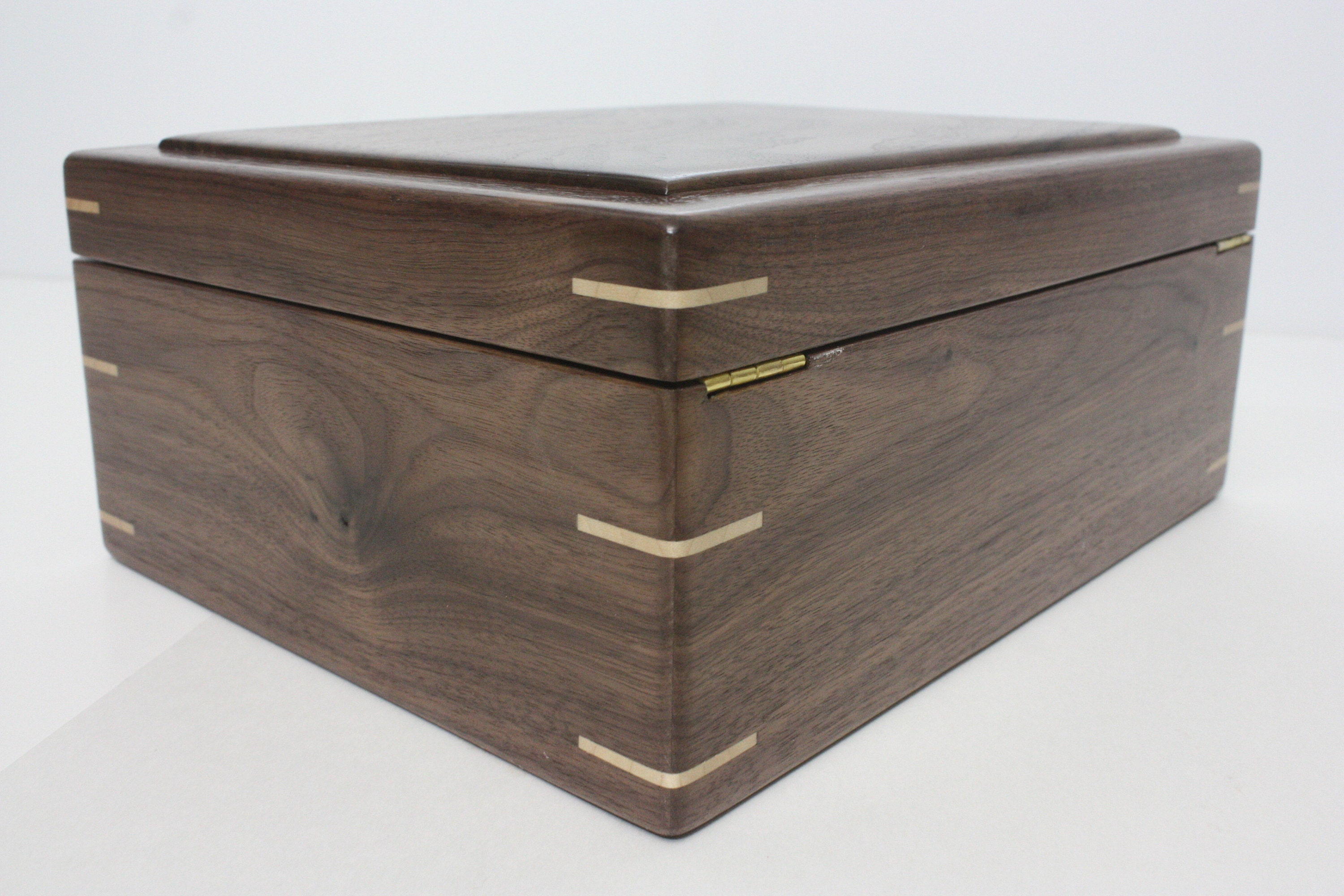 Handmade Locking Box with Quadrant Hinges
