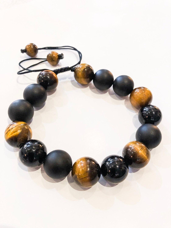 tiger eye beaded bracelet/ mens bracelet/ gift for men