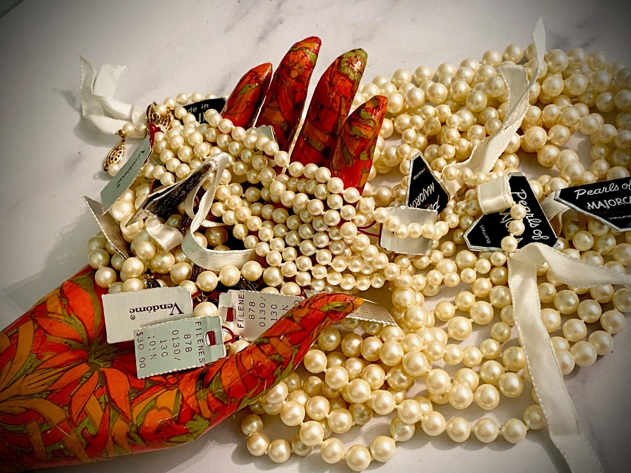 vendome pearls, majorca pearls, made in spain pearls, vintage pearls