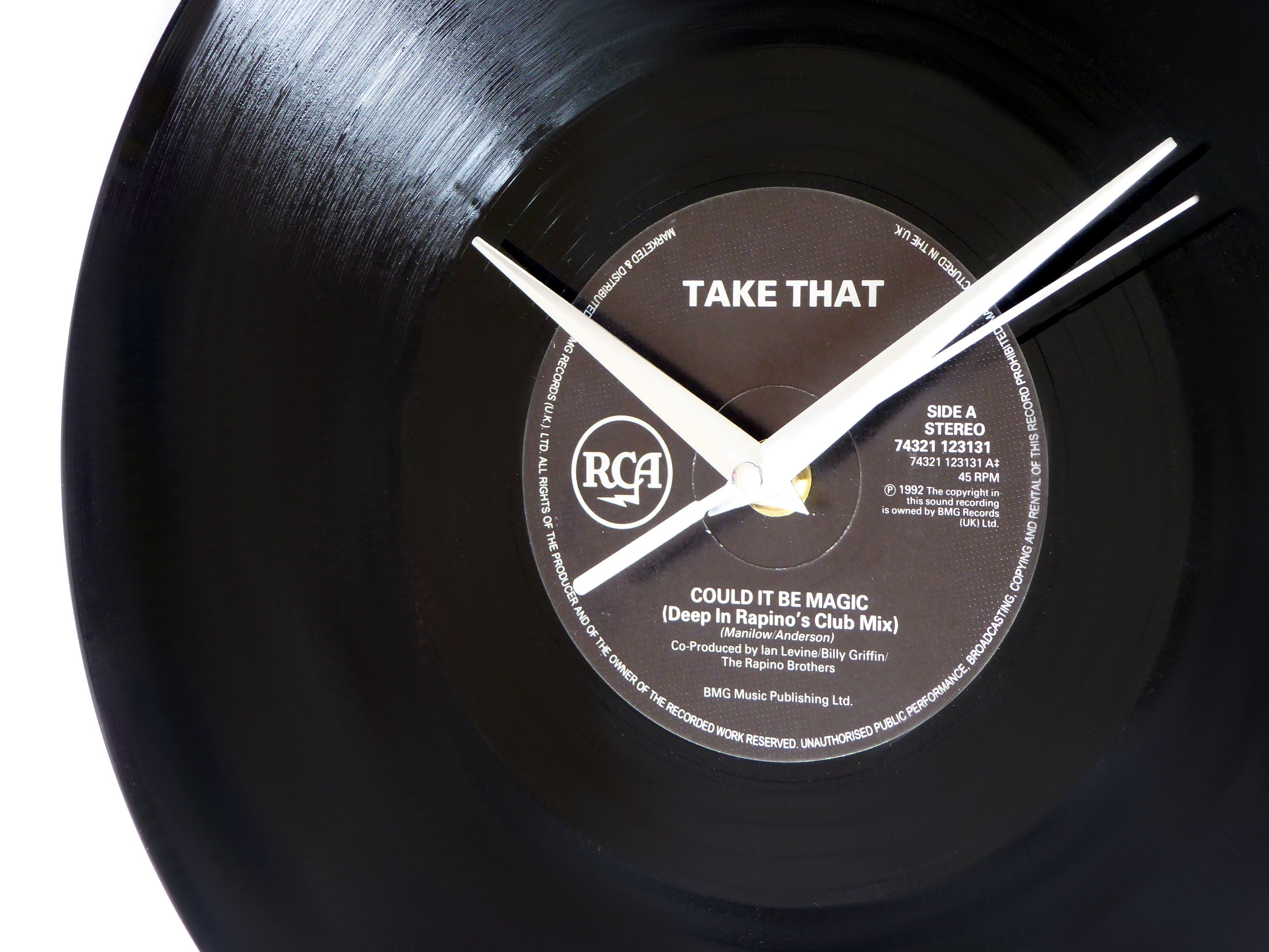 Take That Could It Be Magic Vinyl Record Wall Clock