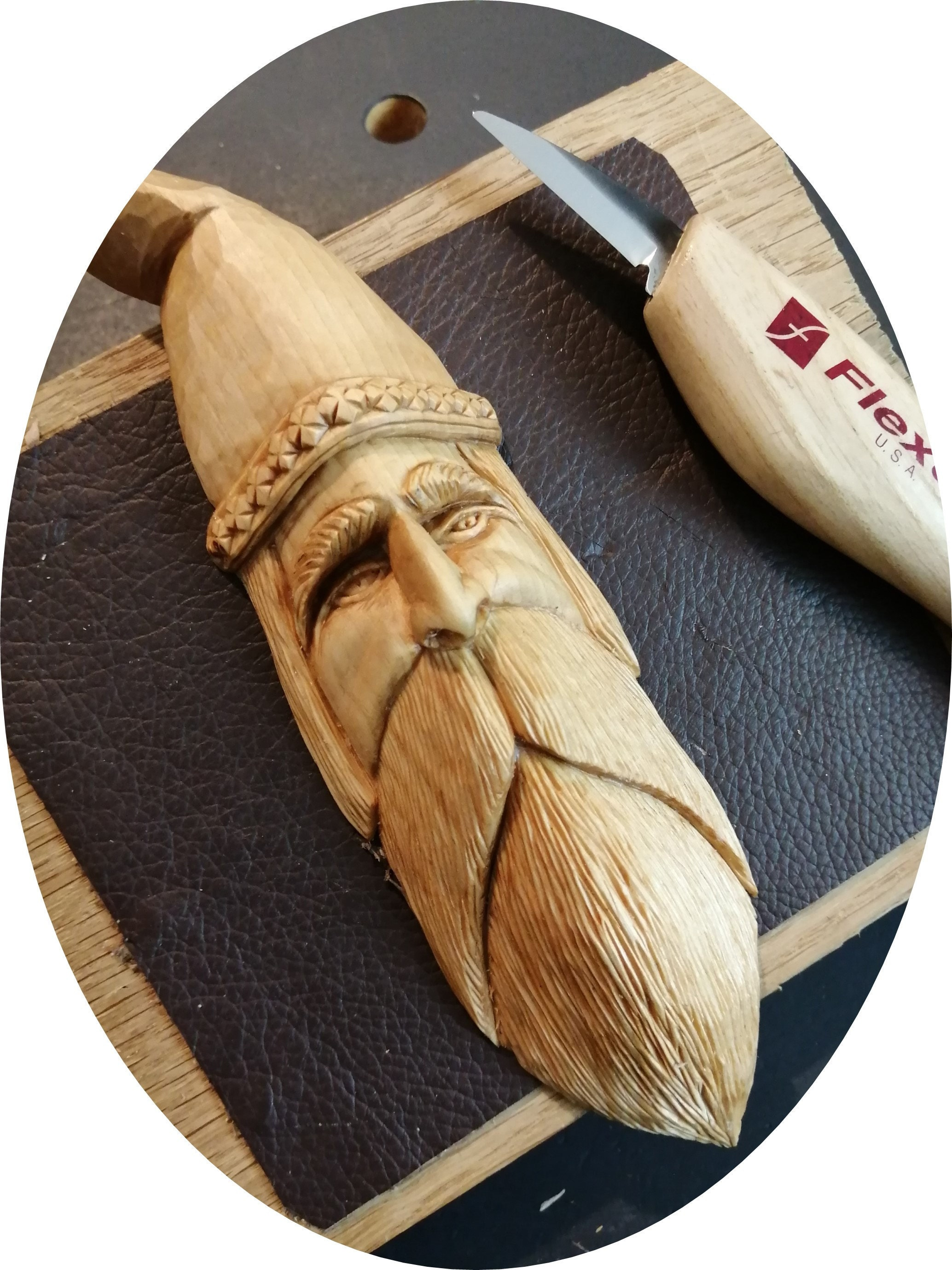 Hand Carved Wizard - a handsome little fella