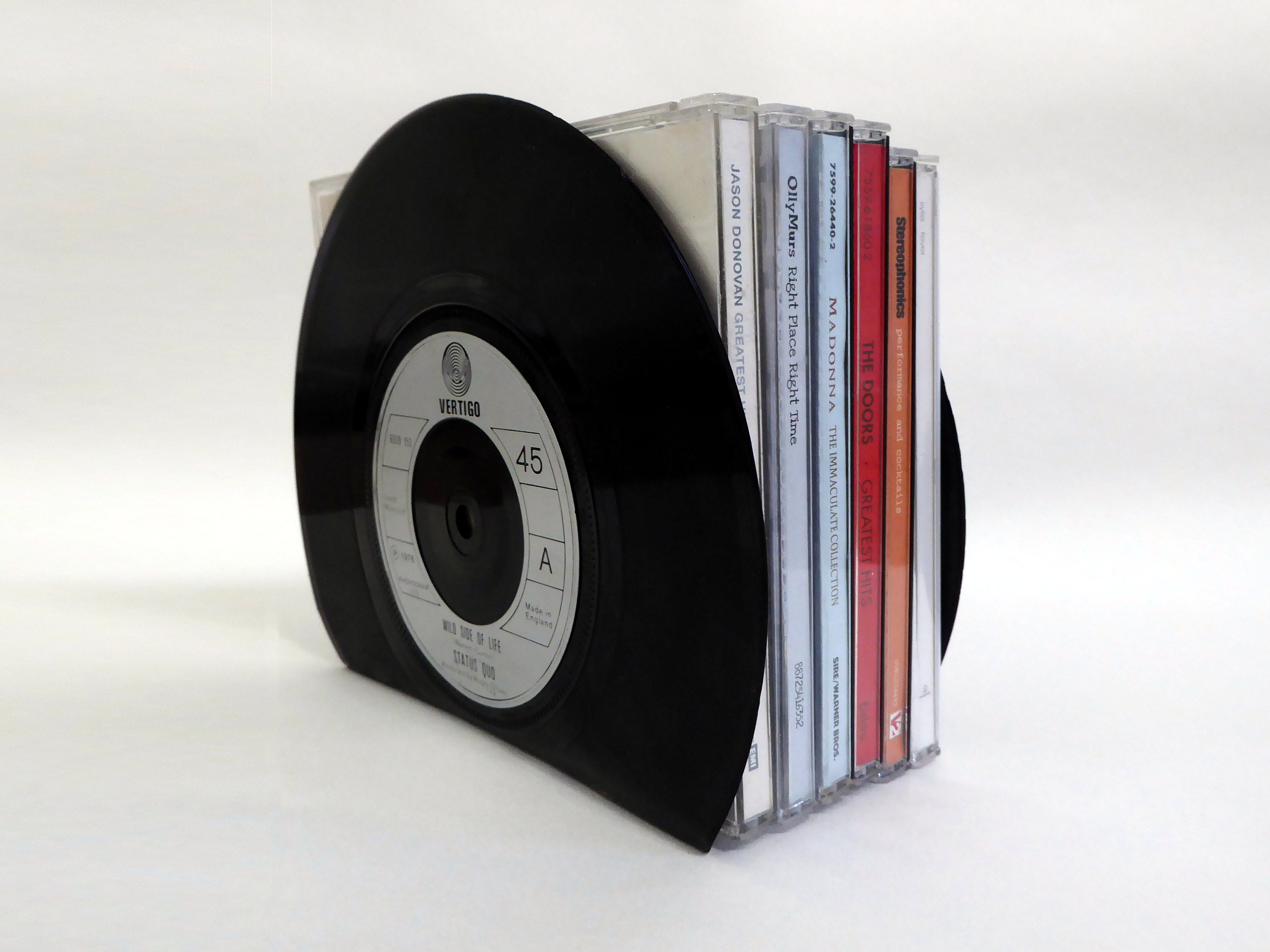 Small Vinyl Record Bookends