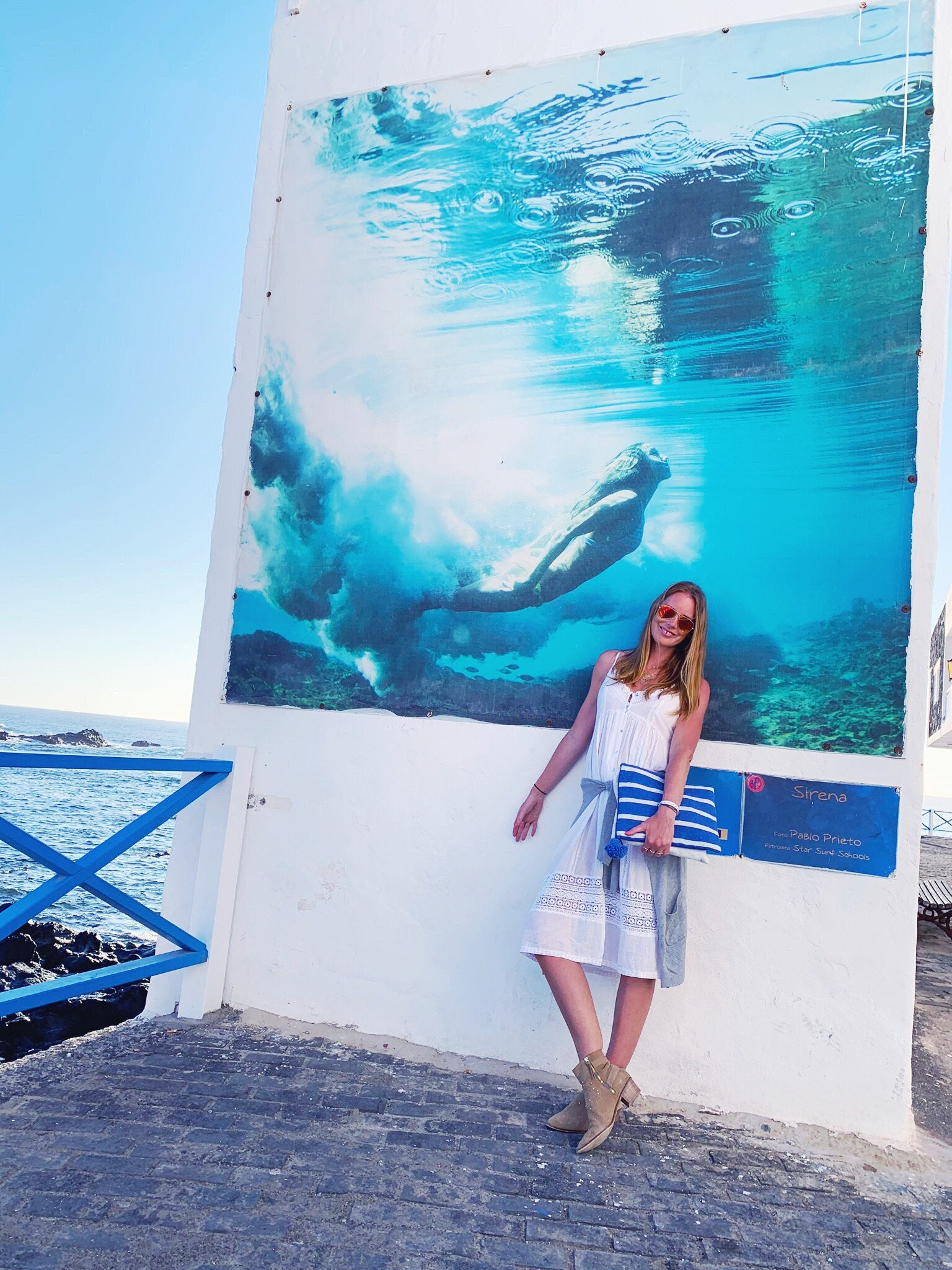 Surf photography on the walls of El Cotillo