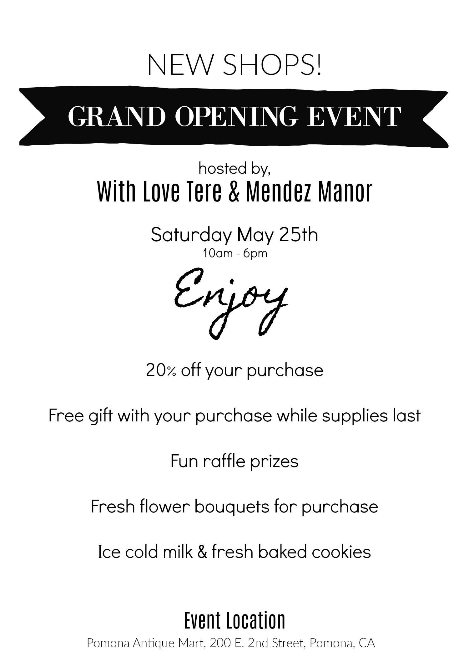 mendez manor grand opening