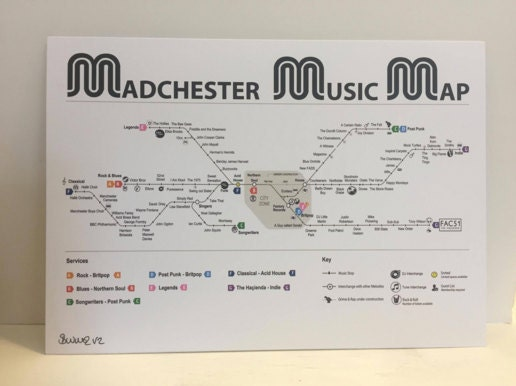 madchester music map - northern quarter gallery