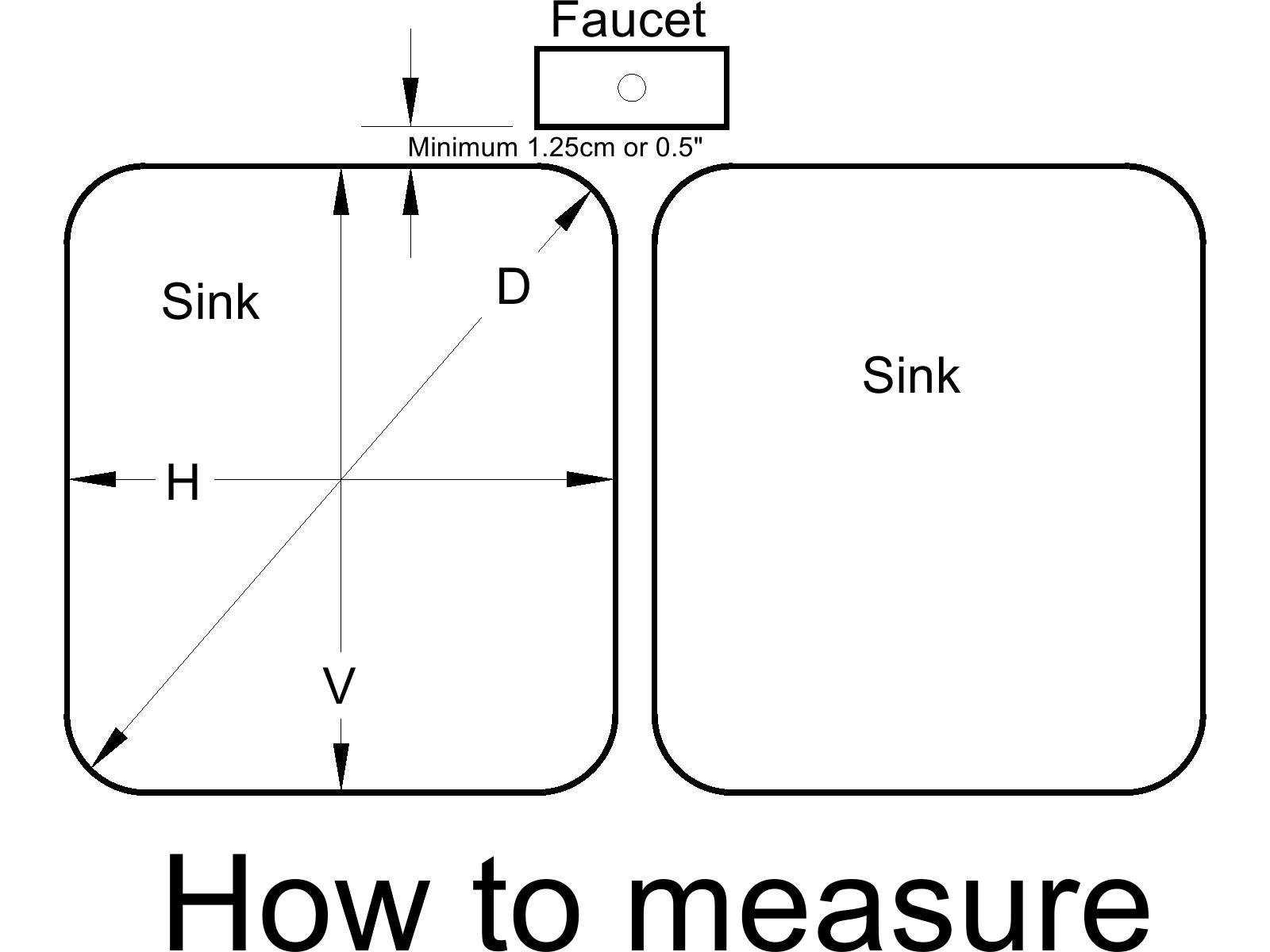 How to Measure your sink.