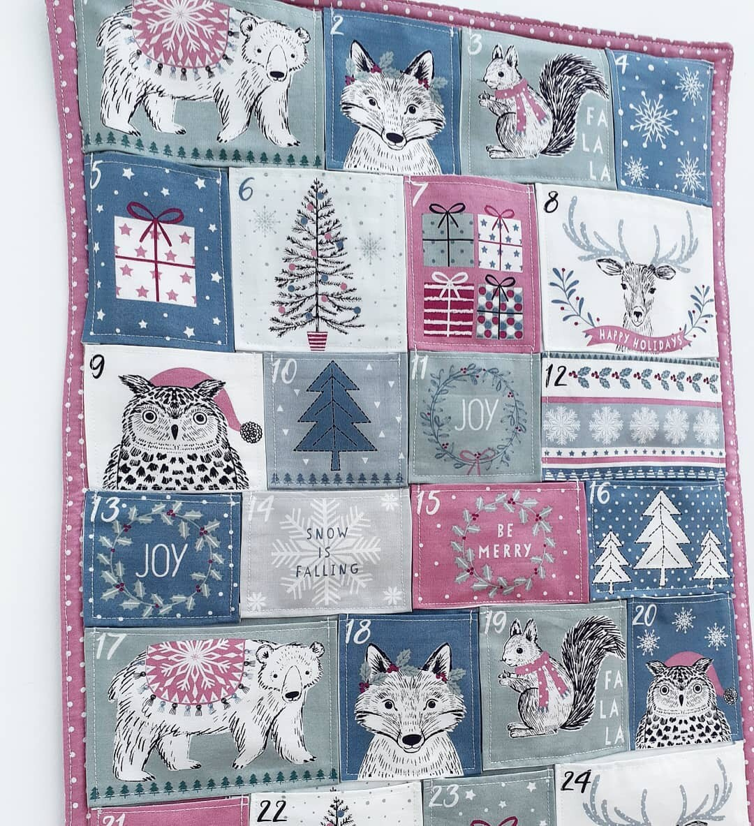 Woodland animals advent calendar Craft Cotton Co