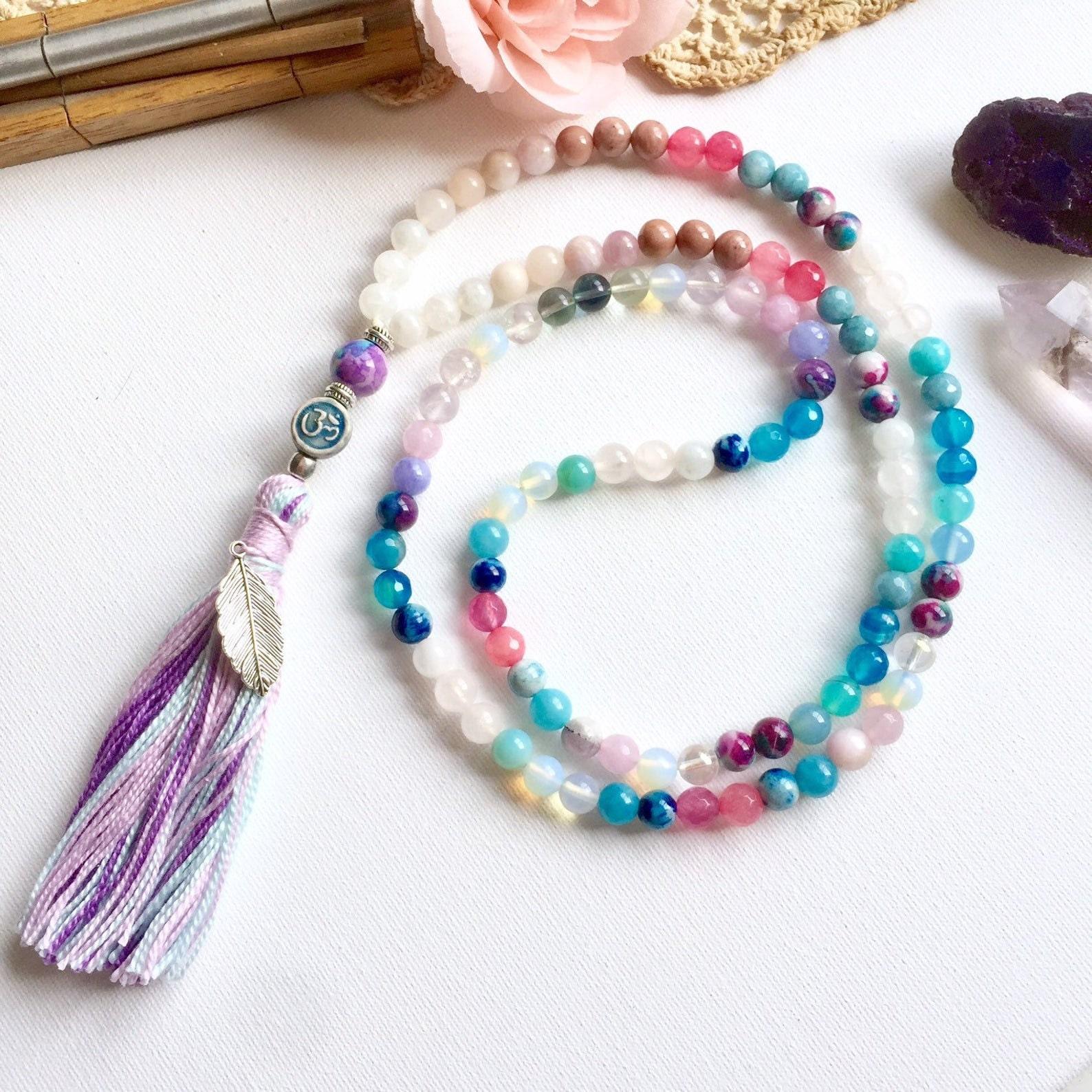 ananda japa mala necklace by kandy disenos