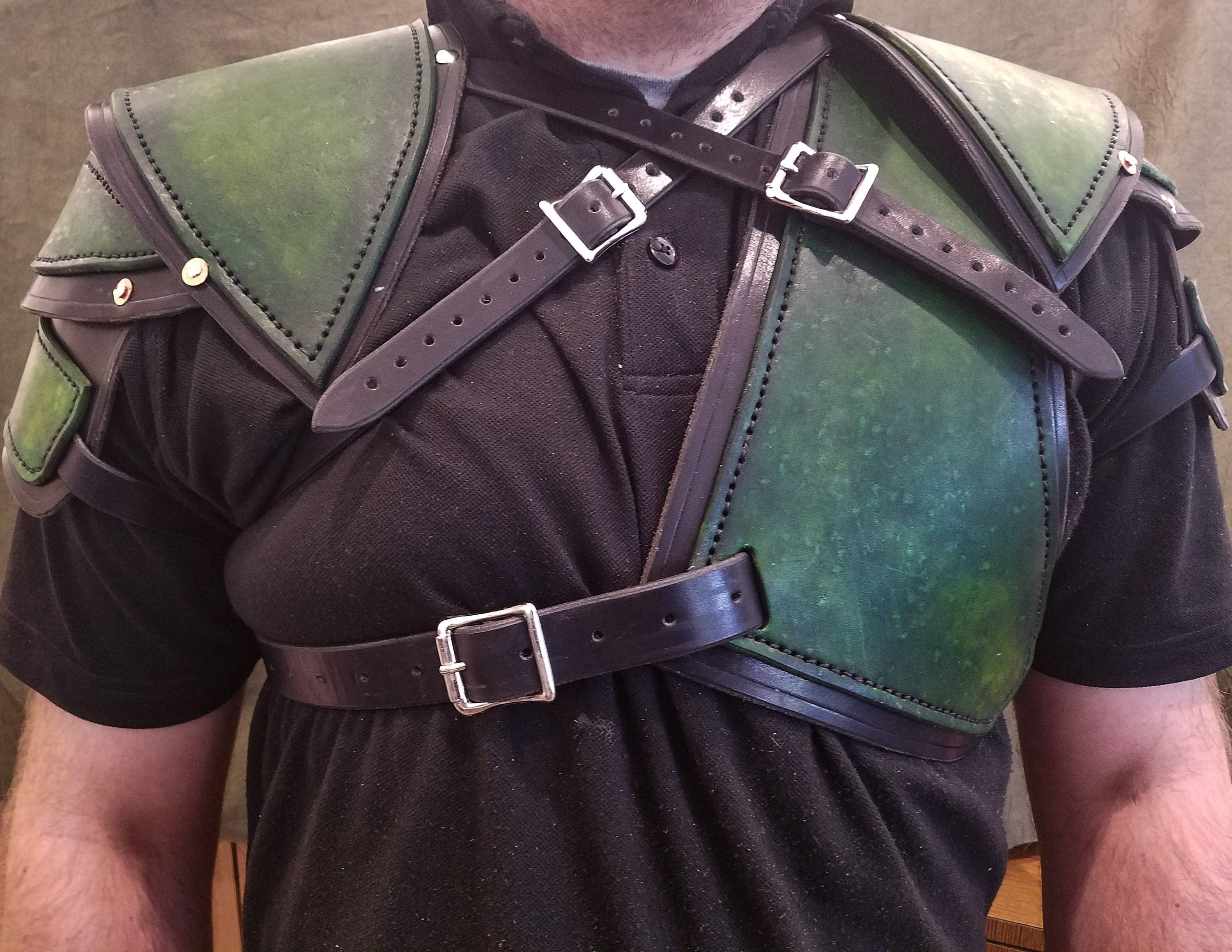 Dark green overlay on some body armor