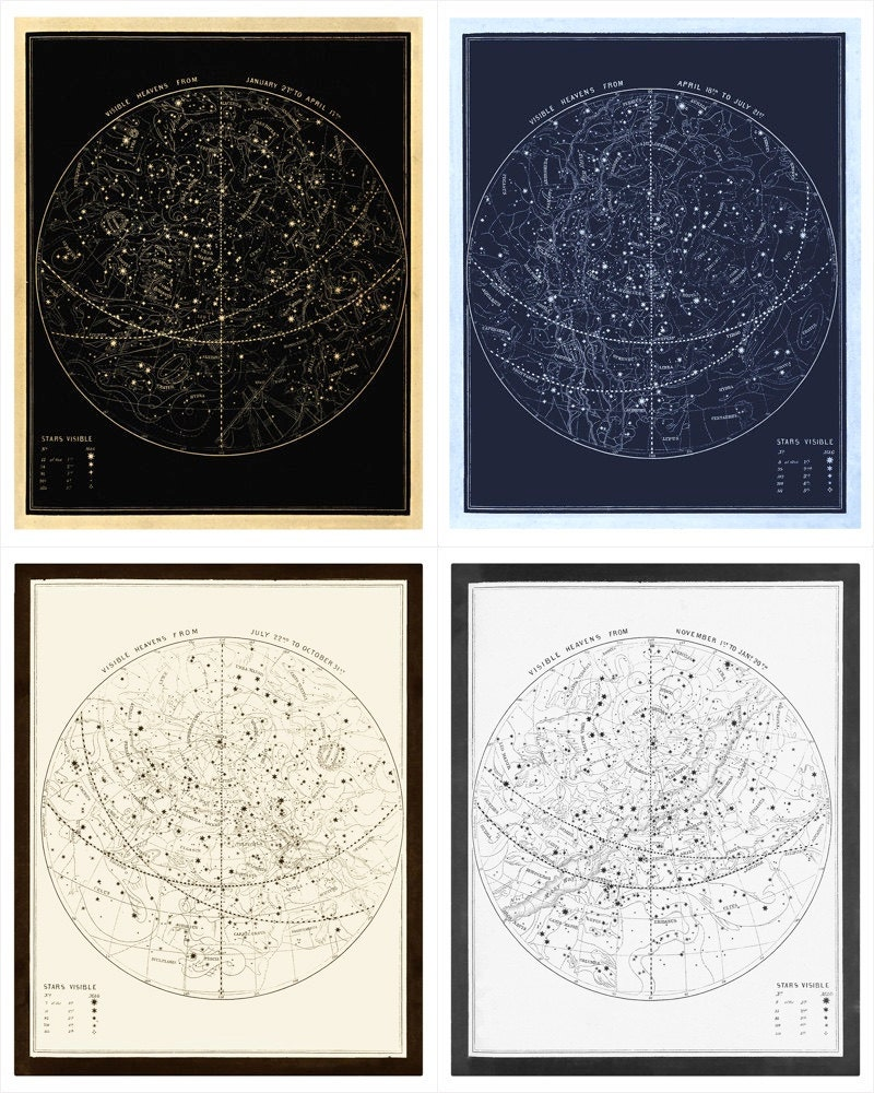 Smith's Visible Heavens, 1855. Restored and formatted for print by Majestic Printsellers LTD.