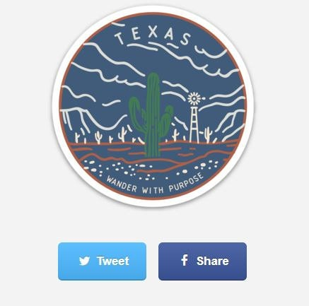 Texas Wander with Purpose stickers!