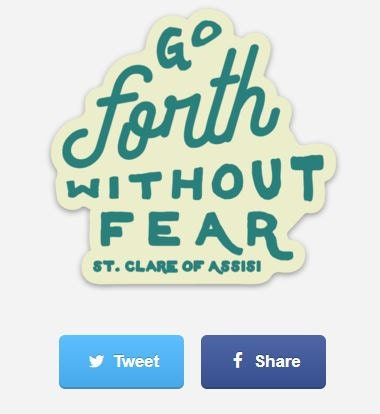 Go Forth Without Fear Sticker - coming soon!