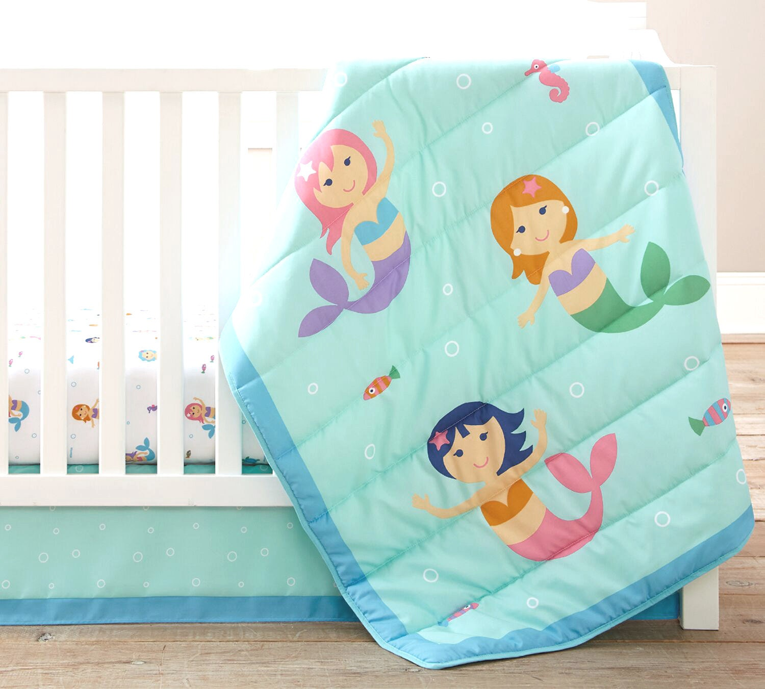 Mermaids Baby Crib Bedding