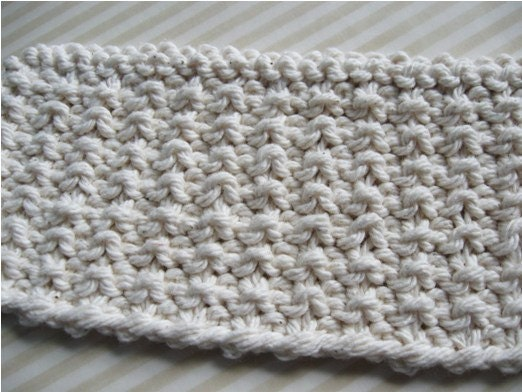 The mock ribbing knitting stitch