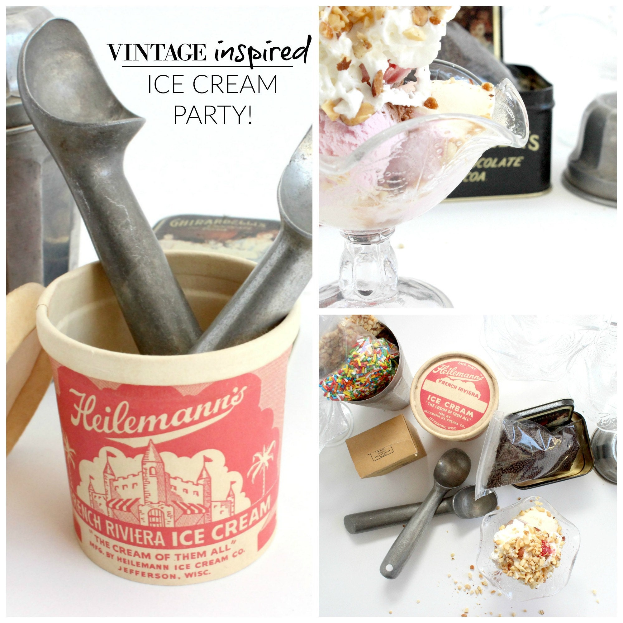 vintage inspired ice cream party