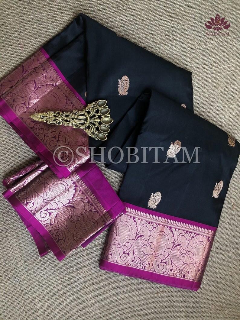 Annapakshi design on Kanchipuram silk