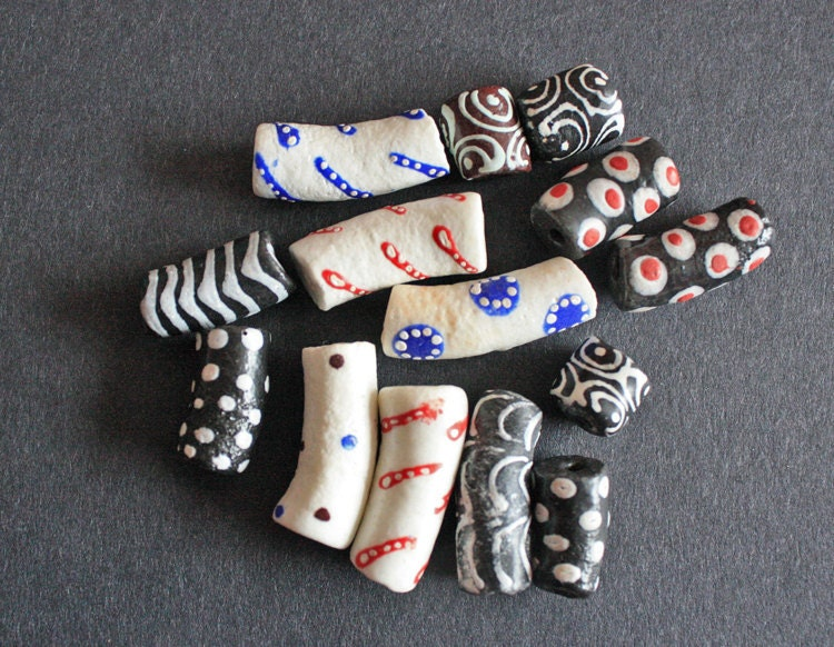 mixed tube glass beads