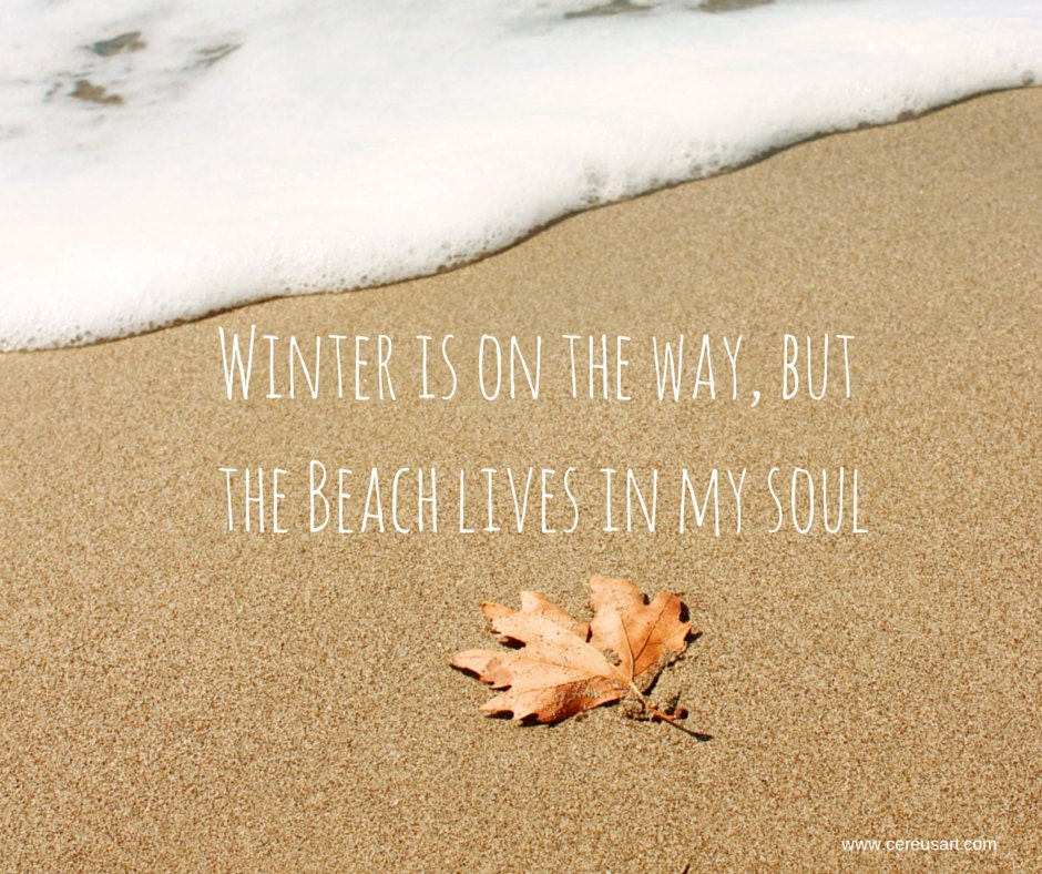 Winter is on the way, but the beach lives in my soul