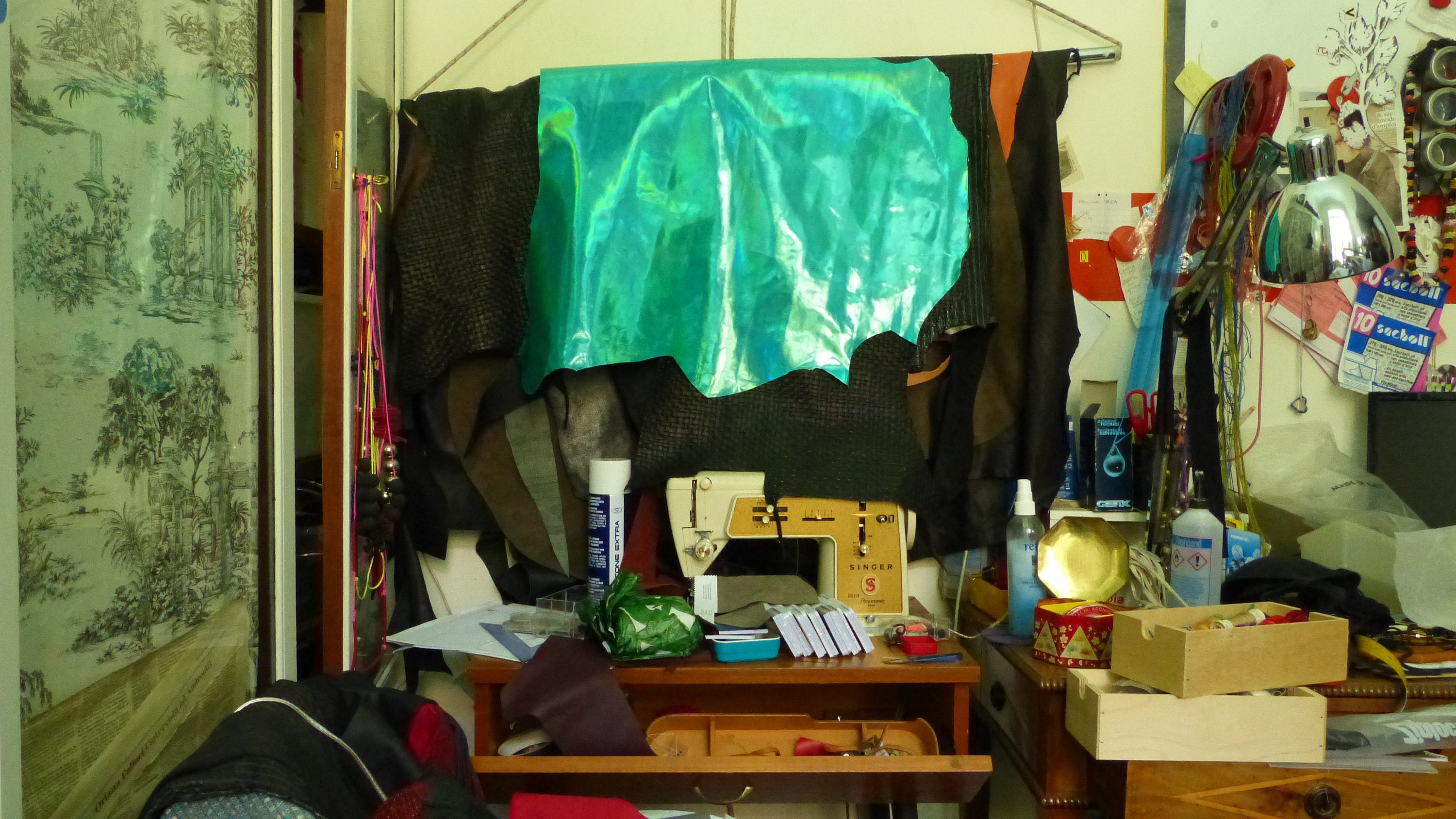 The artist studio.   I have to have everything  within reach