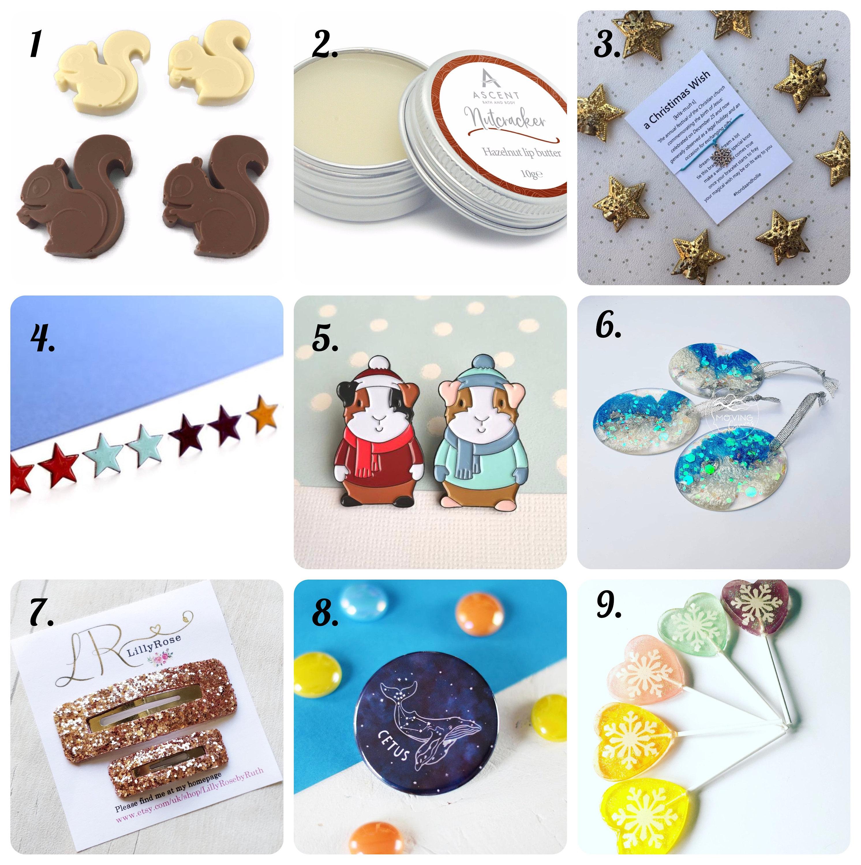 Handmade stocking filler advent pocket treats