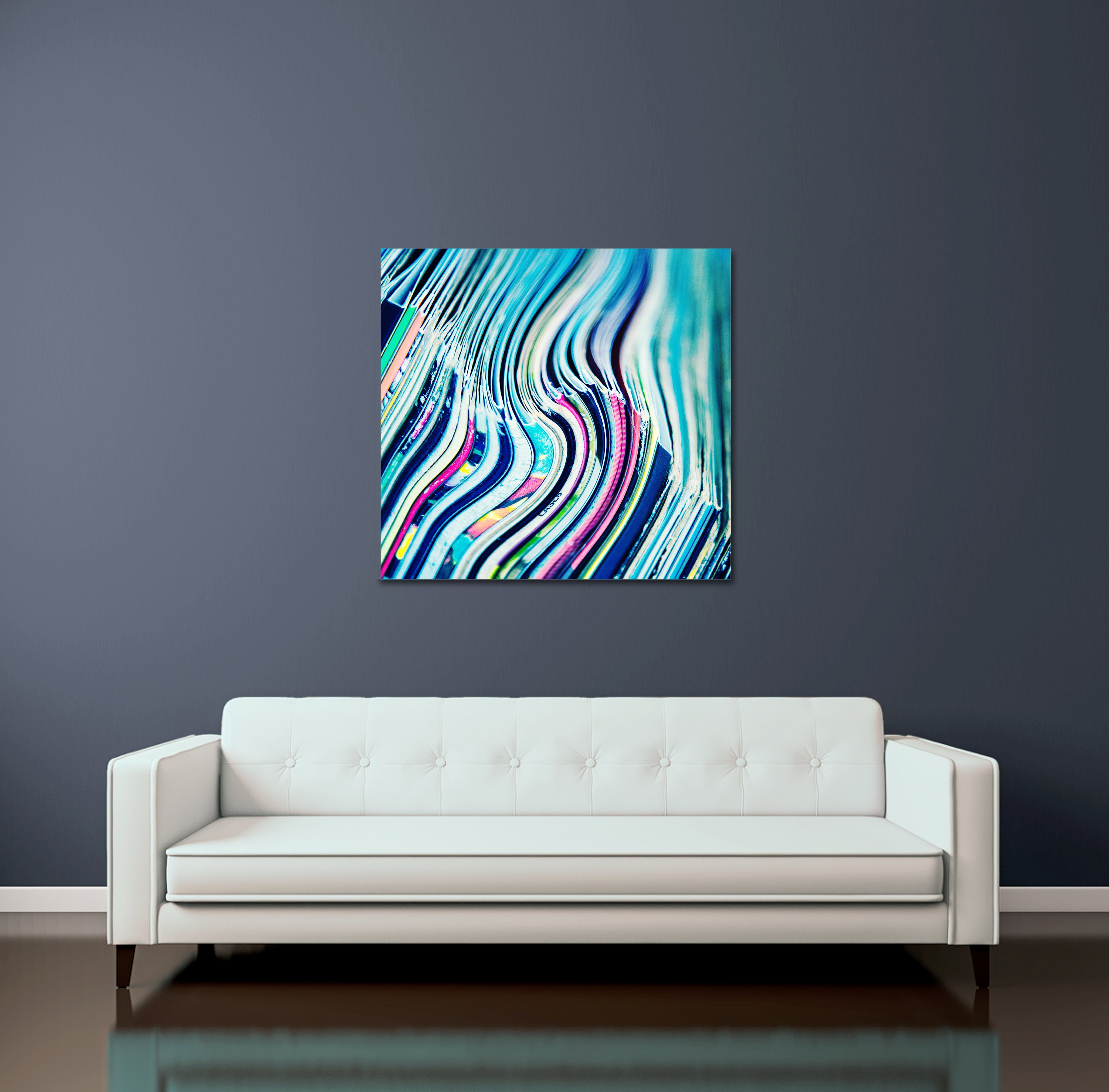 vinyl record surreal canvas wall art in custom sizes- ready to hang contemporary art