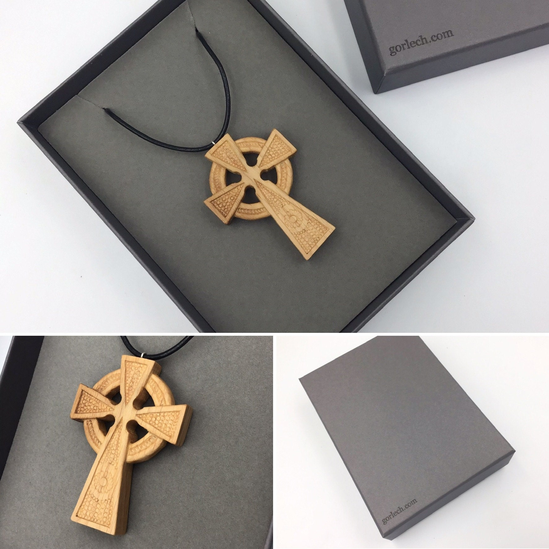 Celtic Cross pendant - hand carved by Paul from Gorlech UK
