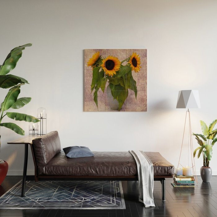 sunflower printed photo